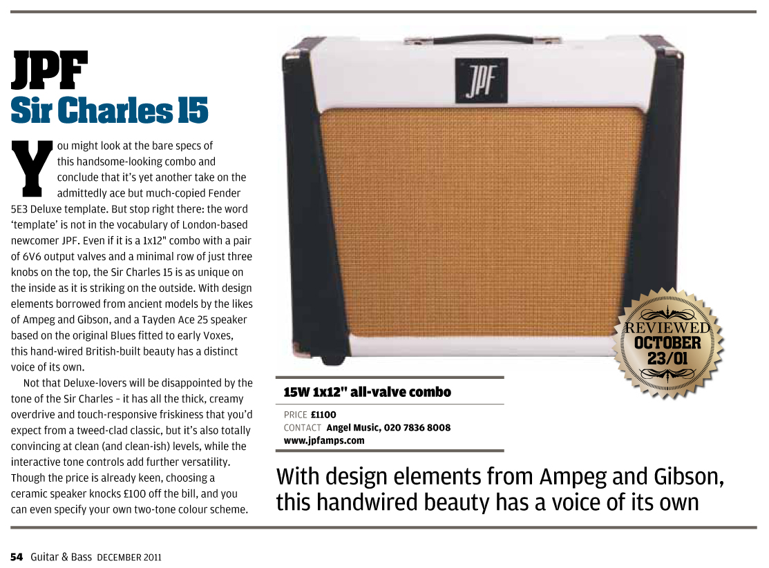 Guitarist Mag Gear Of The Year 2011